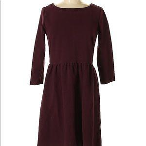 Ann Taylor LOFT Burgundy Casual Dress
